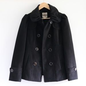 Hydraulic Double Breasted Pea Coat
